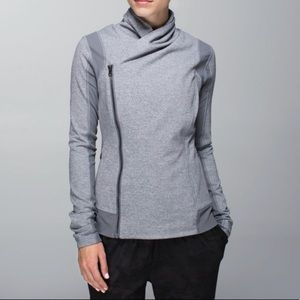 Lululemon Bhakti yoga jacket heathered slate gray